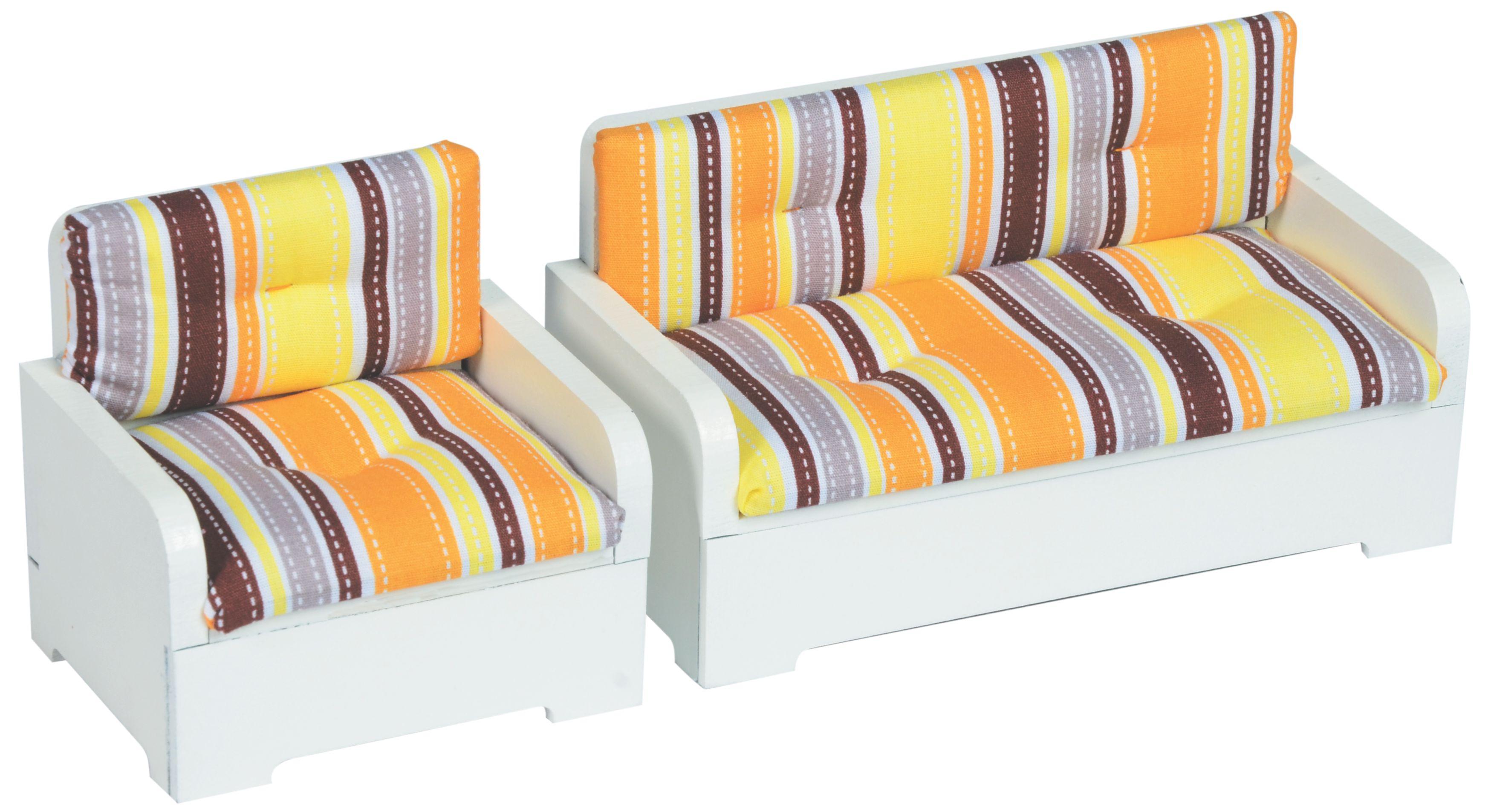 Moveis/ Sofa de 1 e 2 Lugares Estofado