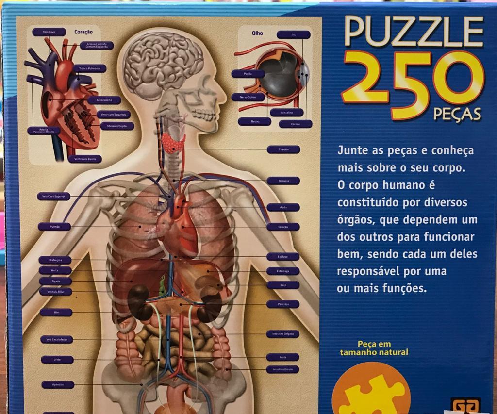 QUEBRA CABEÇAS CORPO HUMANO 250 PEÇAS