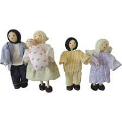 Kit bonecos família com bebê