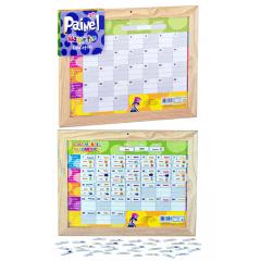 Painel  Magnético Educativo Calendário