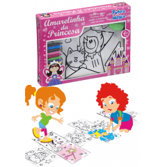 Amarelinha Princesas Pintura Magica