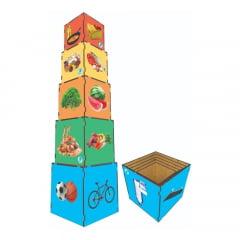 Cubo de Encaixe - Pirâmide alimentar