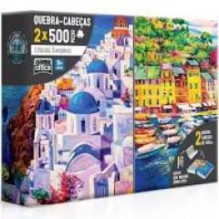 QUEBRA CABEÇAS 2X500 PEÇAS LITORAIS EUROPEUS